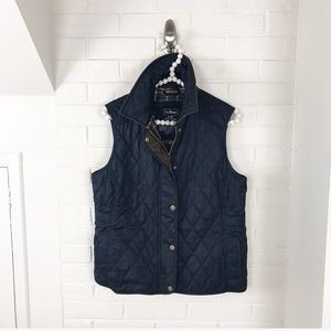 {L.L.Bean} Navy Quilted Field Vest